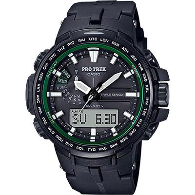 CASIO 卡西歐 PRO TREK 專業登山太陽能電波手錶/58mm