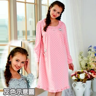 睡衣 精梳棉柔針織 長袖連身睡衣(65208)麻灰色 蕾妮塔塔