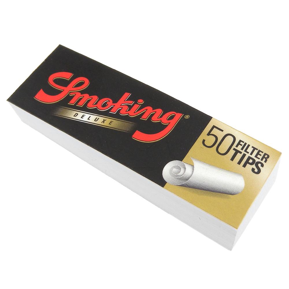 Smoking 西班牙進口-Deluxe Tips-自捲式紙濾嘴(無過濾效果)*5本
