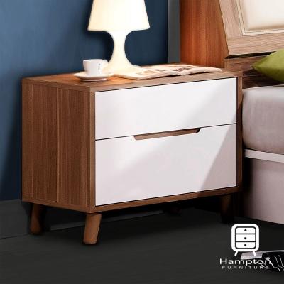 漢妮Hampton 珊卓系列 烤白雙色床頭櫃