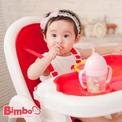 安全兒童餐椅 紅色 台灣製造【BIMBO】