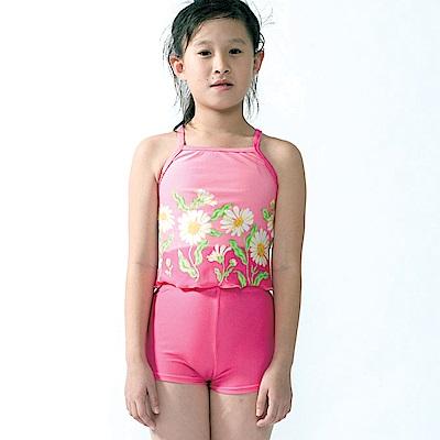 聖手牌 泳裝 紅粉葵花兩件式女童泳裝