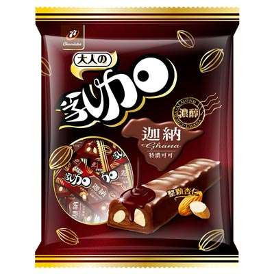 77 乳加巧克力-迦納可可黑巧杏仁(147g)