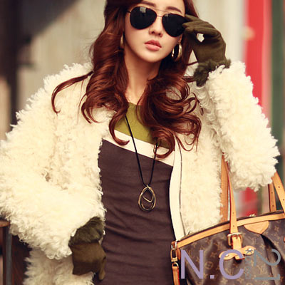 N-C21-奢華質感絨毛滾邊手套-共二色