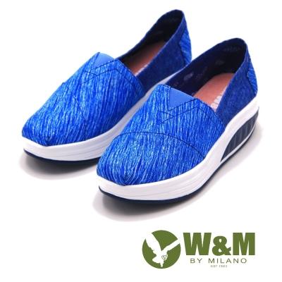 W&M BOUNCE飛線厚底增高休閒鞋 女鞋-藍(另有黑、紫)
