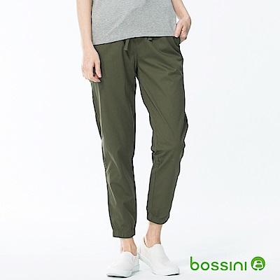 bossini女裝-輕鬆束口長褲01軍綠