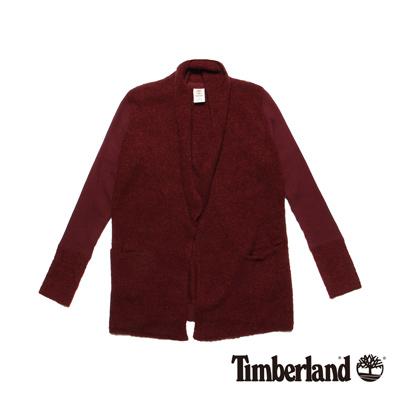 Timberland-女款深藍色開襟針織外套