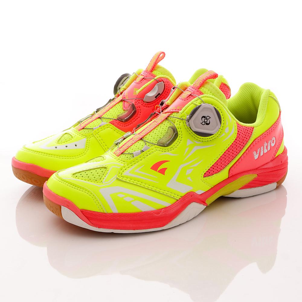 Vitro韓國專業運動品牌-NIVA-FLEX2頂級專業羽球鞋-螢光粉(女)