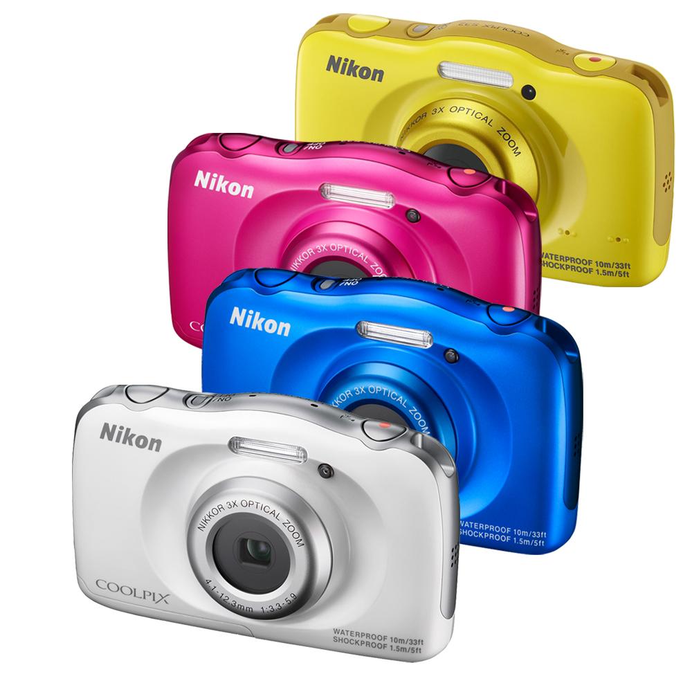 Nikon coolpix S33 防水數位相機 - 豪華配件組 (公司貨)