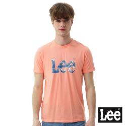 Lee 短袖T恤 海浪LOGO印刷短袖圓領TEE/RG-男款-橘