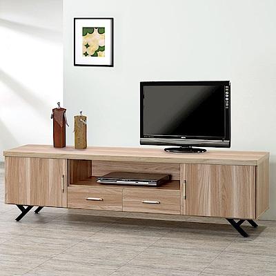 Homelike 加納6尺電視櫃(原木色)-182x40x52cm