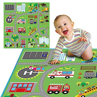 LOG樂格 環保遊戲爬行墊2cm -動物社區 120X180cm