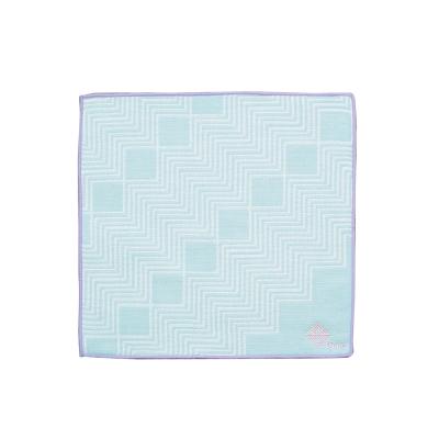 日本丸真今治雙色方巾-水波藍