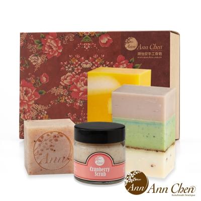 陳怡安手工皂-果香保濕沐浴洗顏去角質四入禮盒