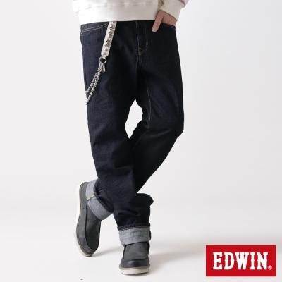 EDWIN 大尺碼中直筒505ZX純棉牛仔褲-男-原藍色