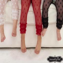 Mud Pie 聖誕三色蕾絲七分內搭褲三件組