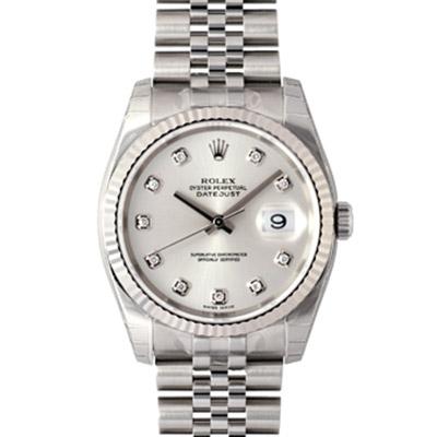 ROLEX 勞力士 Datejust 116234 蠔式恆動日誌型鑽錶-銀/36mm
