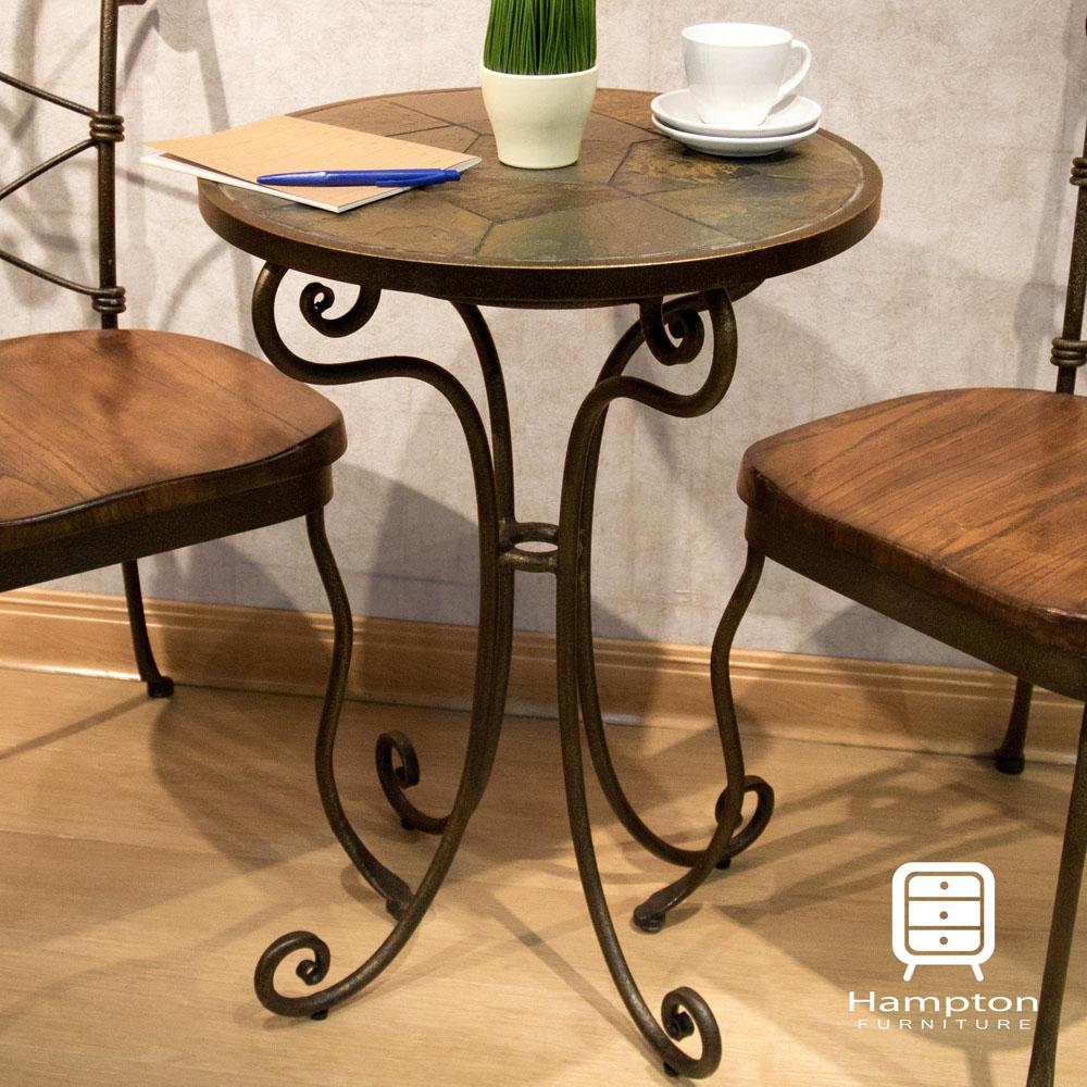 漢妮Hampton貝克休閒桌-深色50x50x70cm