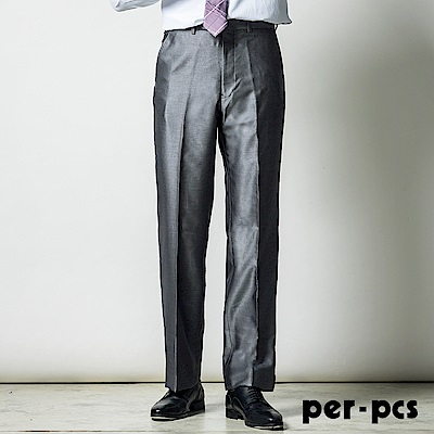 per-pcs 正式品味商務平面西褲_銀灰(713115)
