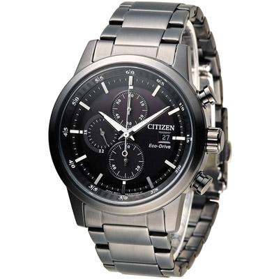 CITIZEN 星辰 極速豪傑光動能計時腕錶(CA0615-59E)-黑/43mm