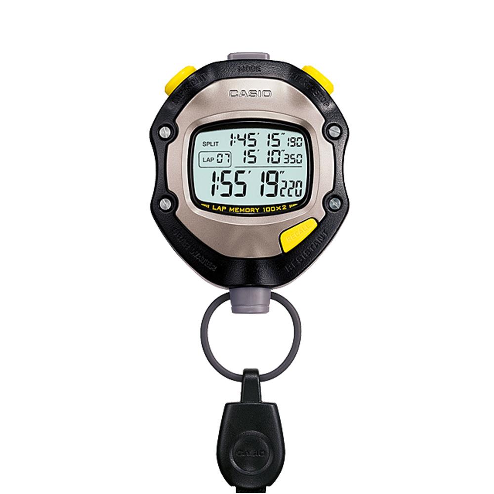 CASIO 1/1000秒單位防水馬錶(HS-70W-1)-黑