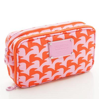 VOVAROVA空氣包-眼妝化妝包-千鳥飛飛(橘)-法國設計系列