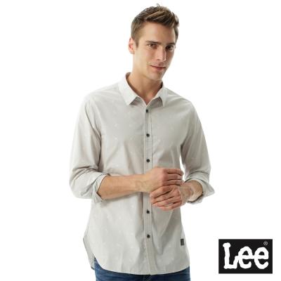 Lee 閃電圖騰Urban Riders長袖襯衫- 男款-淺色