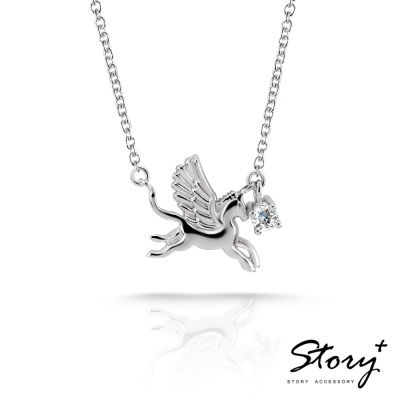 STORY 9 to 5 粉領儷人系列-Pegasus 飛馬 自由 純銀項鍊