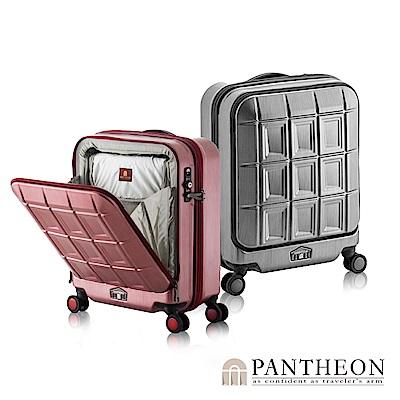 日本PANTHEON 19吋 霧面黑拉絲 商務人士推薦 立可拿前開登機箱/行李箱
