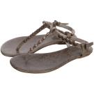 BALENCIAGA Giant 12 巴黎世家玫瑰金釦夾腳涼鞋(灰棕色)