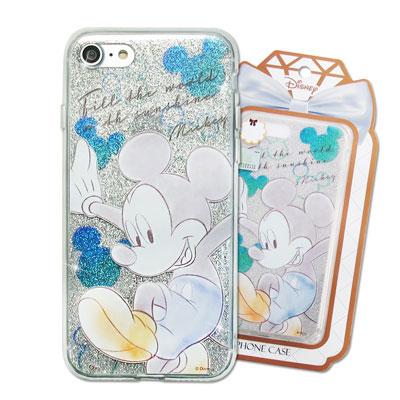 迪士尼 授權正版 iPhone 8/iPhone 7 閃粉雙料保護手機殼(米奇)