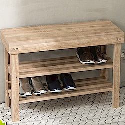 IDEA-低甲醛典雅實木加厚款穿鞋椅