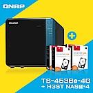QNAP TS-453Be-4G網路儲存伺服器+HGST 4TB NAS專用硬碟