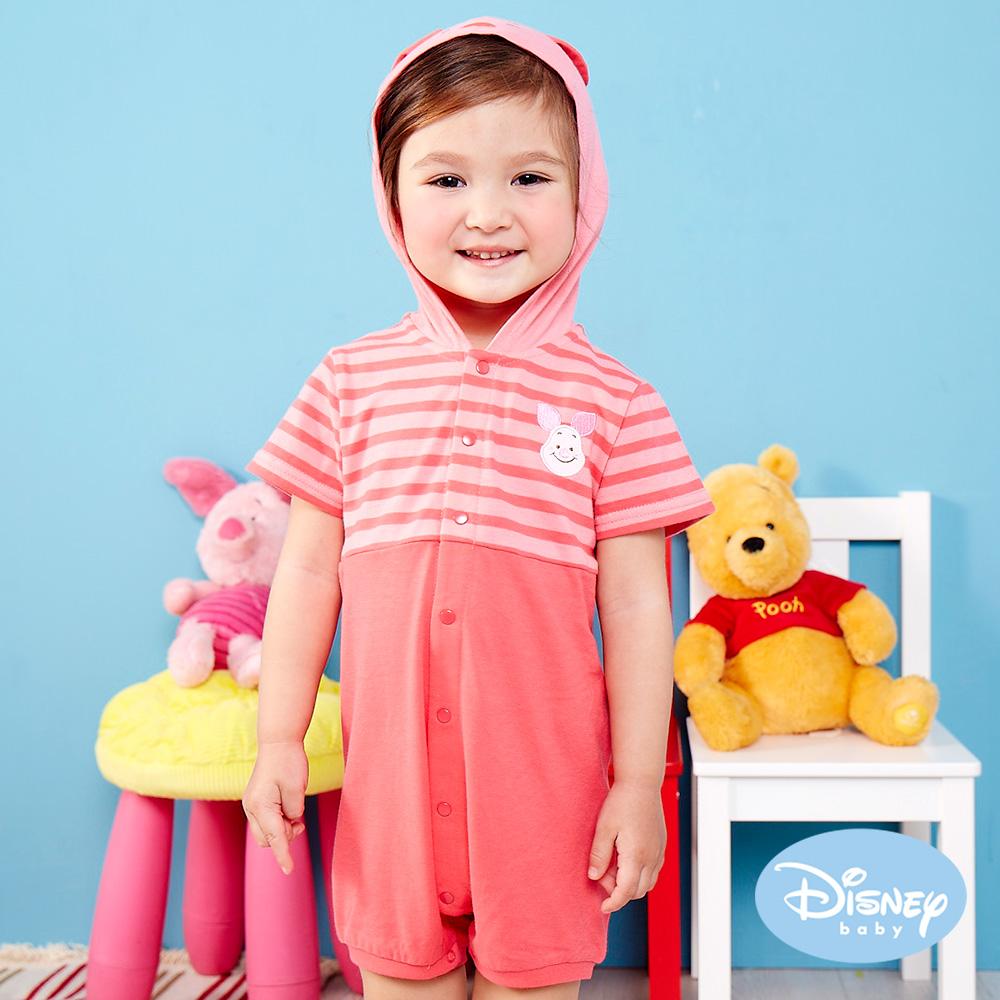Disney Baby俏皮小豬連帽造型遊戲褲梅餅色