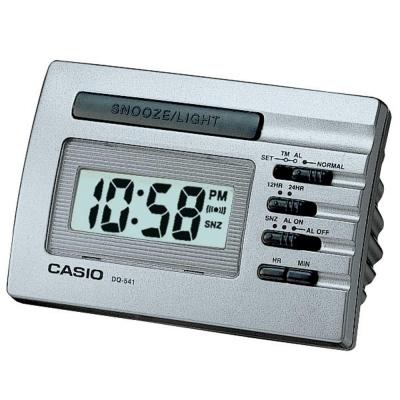 CASIO 數字小型電子鬧鐘(DQ-541D-8)-灰