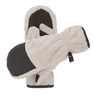 【Berghaus貝豪斯】女款刷毛保暖手套H46F01-米白