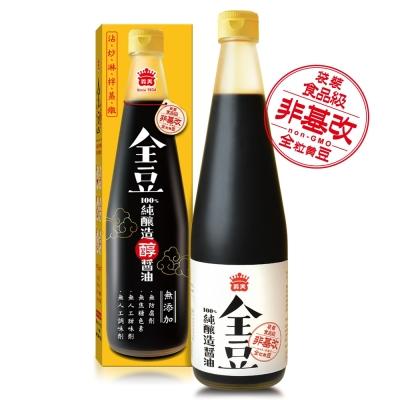 義美 全豆純釀造醬油(520ml)
