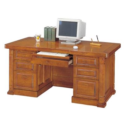 Boden-小葉樟實木6尺電腦辦公桌-免組
