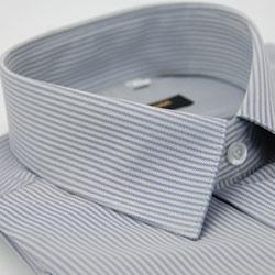 金‧安德森 灰色窄版類絲質吸排長袖襯衫