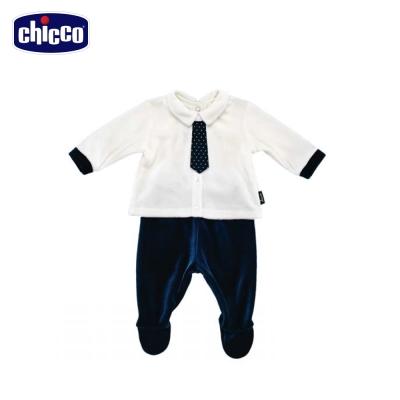 chicco冰雪小熊領帶長袖套裝 (3個月-12個月)