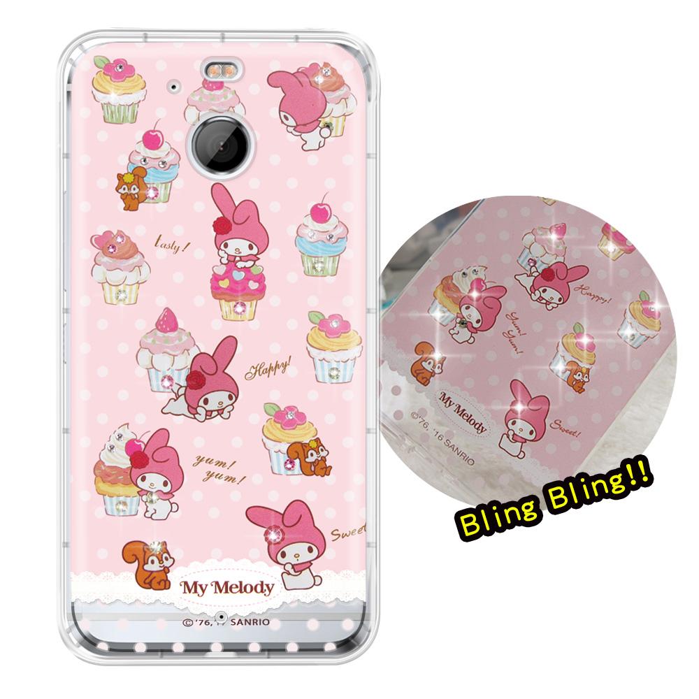 正版美樂蒂HTC 10 EVO 5.5吋夢幻童話彩鑽氣墊手機殼美味甜點