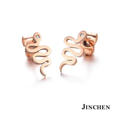 JINCHEN 白鋼小蛇耳環