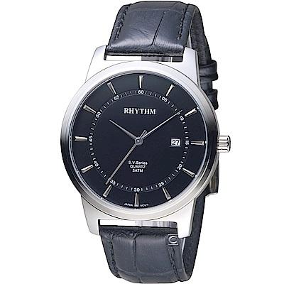 日本麗聲錶RHYTHM沈穩內斂品味紳士錶(GS1601L02)-40mm