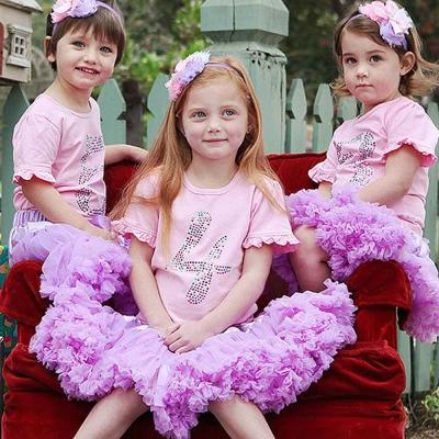 RuffleButts 生日快樂粉色短袖澎裙 套裝三件組