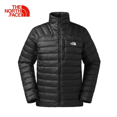 The North Face北面男款黑色防潑水可收納羽絨外套