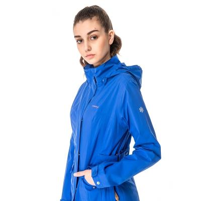 【hilltop山頂鳥】女款GORE-TEX 2L防水防風透氣外套H22FS3-藍