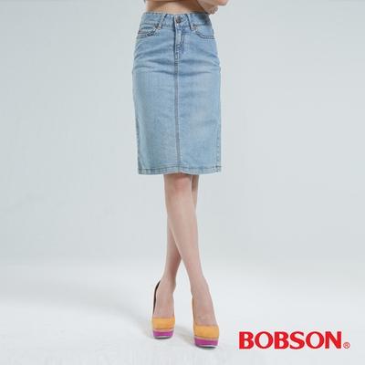 BOBSON 伸縮短裙(淺藍)