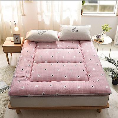 FL生活+ 超軟Q加長加厚8公分日式雙人加大床墊-粉嫩花朵