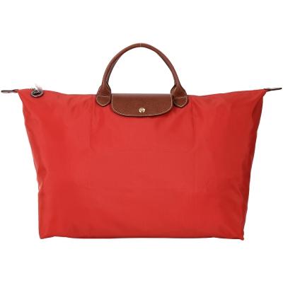 LONGCHAMP LE PLIAGE 磚紅色摺疊尼龍旅行袋(L/展示品)