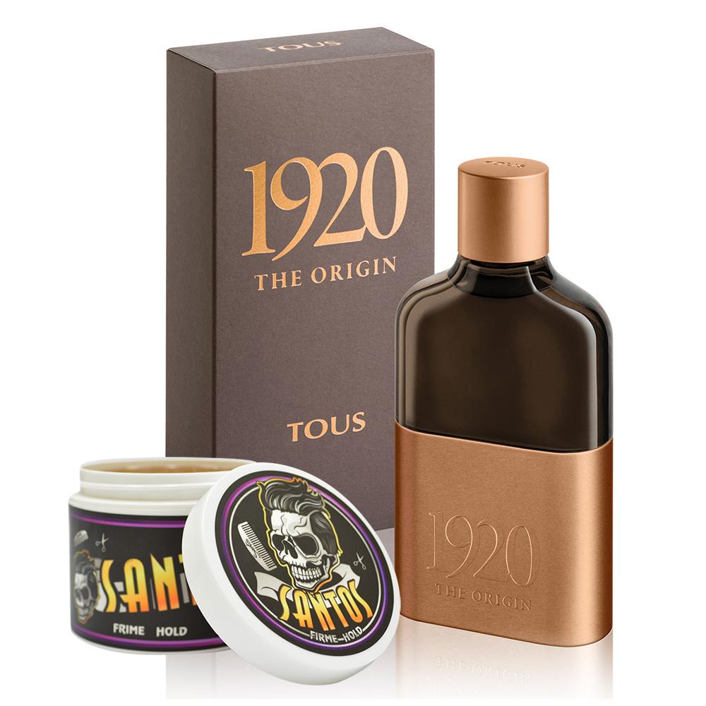 TOUS 1920男性淡香精100ml SANTOS型男油頭蠟113g油頭梳